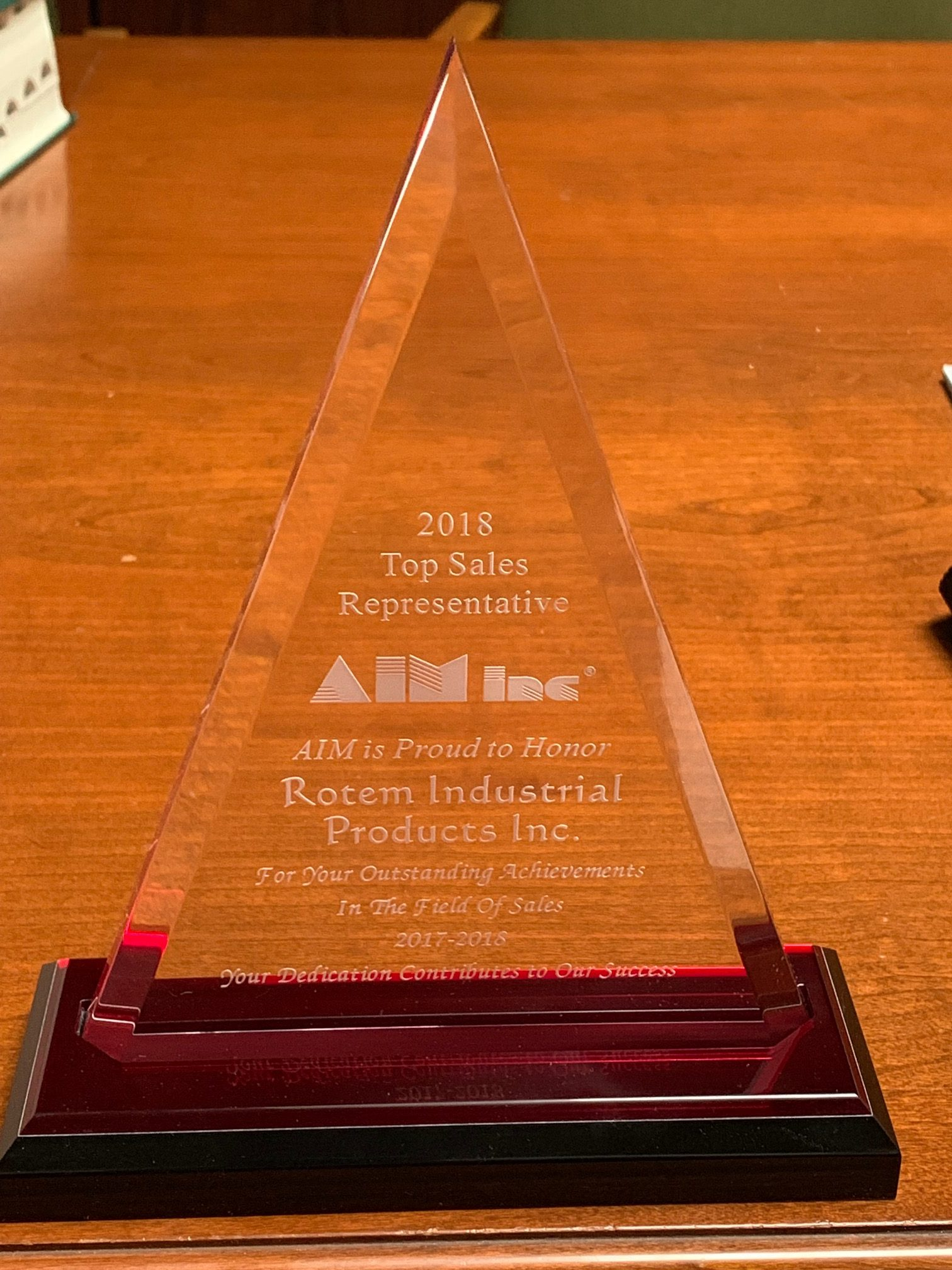 Rotem Receives Award From AIM Inc
